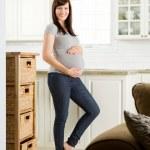 Beautiful Healthy Pregnant Woman — Stock Photo #12328443