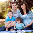 Young Beautiful Family — Stock Photo #12329823