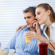 Couple Having Breakfast Together — Stock Photo #12335406