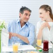 Couple Having Healthy Breakfast — Stock Photo