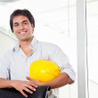 Portrait of Happy Young Architect — Stock Photo