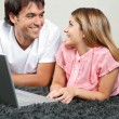 Couple With Laptop — Stock Photo #12379452