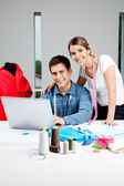 Designers Working In Workshop — Stock Photo