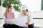 Female Client With Architect — Stock Photo