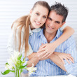 Happy Woman Embracing her Husband — Stock Photo