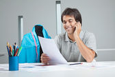 Designer On a Phone Call — Stock Photo