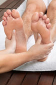 Man Receiving Foot Massage — Stock Photo