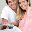 Stock Photo: Couple Making House Plans