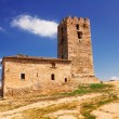 Old tower, Nea Fokea, Halkidiki - Stock Photo