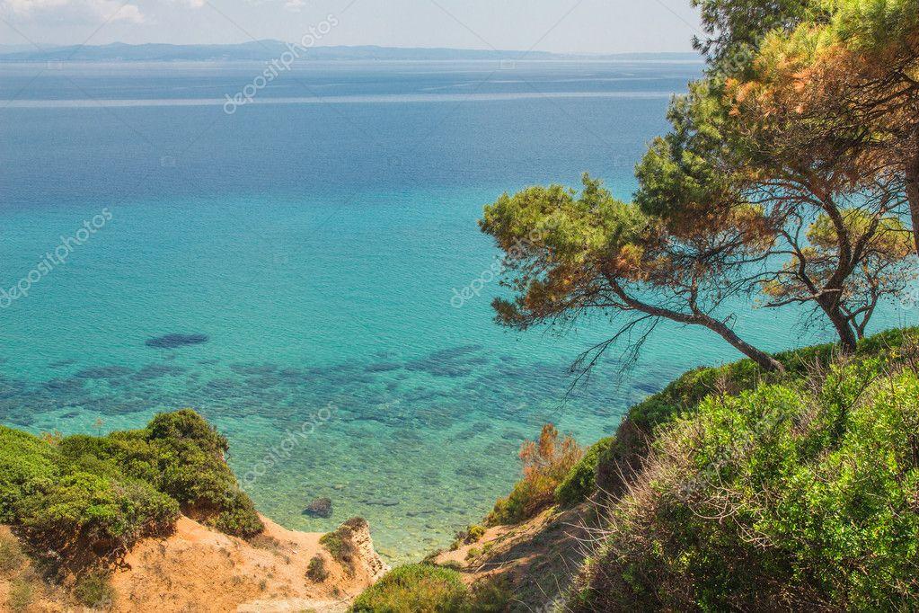 卡桑德拉, 哈尔基迪基, 希腊海景 — 照片作者 anatema