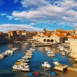 Dubrovnik old town pier — Stock Photo #12001673