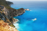 Rocky coast of Lefkada — Stock Photo