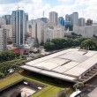 Aerial view of the cultural center of sao paulo — Stock Photo