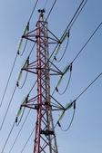 Linhas de transmissão de energia elétrica — Foto Stock
