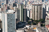 Aerial view of buildings in the city of sao paulo. — Stock Photo