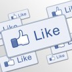 Button like facebook — Stock Photo