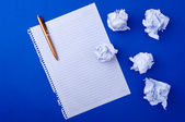 Notebook paper and pen — Stock Photo