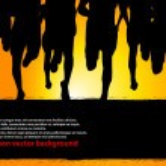 Marathon Runners Poster — Stock Vector #10752898