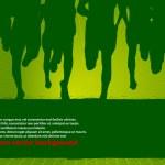 Marathon Runners Vector Poster — Stock Vector #10753007