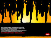 Marathon Runners Poster — Stock Vector