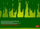 Marathon Runners Vector Poster — Stock Vector