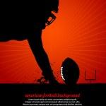 cartel de vector de fútbol americano — Vector de stock