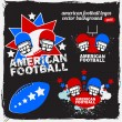 American Football Logo Set_1 — Stock Vector