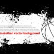 Stock Vector: Grunge Basketball Banner