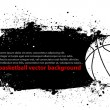 Stock Vector: Grunge Basketball Poster