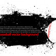 Stock Vector: Grunge Baseball Poster