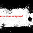 Royalty-Free Stock Vectorielle: Grunge Soccer Banner