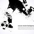 affiche football grunge — Vecteur
