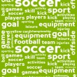 Soccer Word Cloud Background — Imagens vectoriais em stock