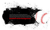 Grunge Baseball Poster — Stock Vector