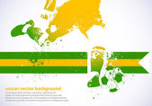 Fútbol de Brasil — Vector de stock