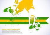 Brasilien-Fußball — Stockvektor