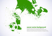 Grunge Soccer Player — Stock Vector