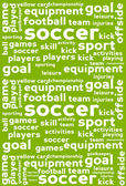 Soccer Word Cloud Background — Stock Vector