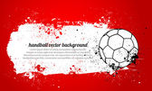 Grunge Handball — Stock Vector