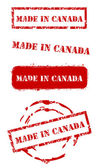 Made in Canada Stamps — Stock Vector