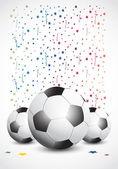Championship Soccer Confetti — Stock Vector