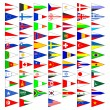 Flags of the countries of the world. — Imagens vectoriais em stock