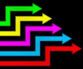 Multicolored arrows. — Stock Vector