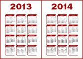 Calendar 2013,2014 — Stock Vector