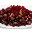Cherry, currants, gooseberries — Stock Photo