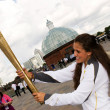 olympic torch — Stock Photo