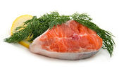 Salmon with dill and lemon — Stock Photo