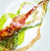 Vector swirl background — Stock Vector