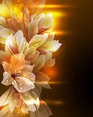 Artystyczny kwiat tło — Wektor stockowy