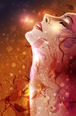 Abstract Woman — Stock Vector